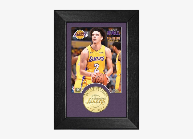 Los Angeles Lakers Lonzo Ball Nba Debut Minted Coin - Logos And Uniforms Of The Los Angeles Lakers, transparent png #2264622