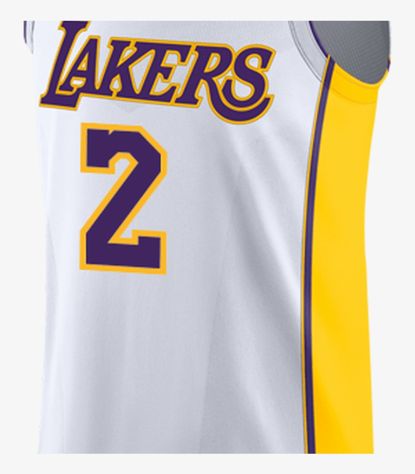 Los Angeles Lakers Lonzo Ball Authentic Association - La Lakers White Jersey, transparent png #2264907