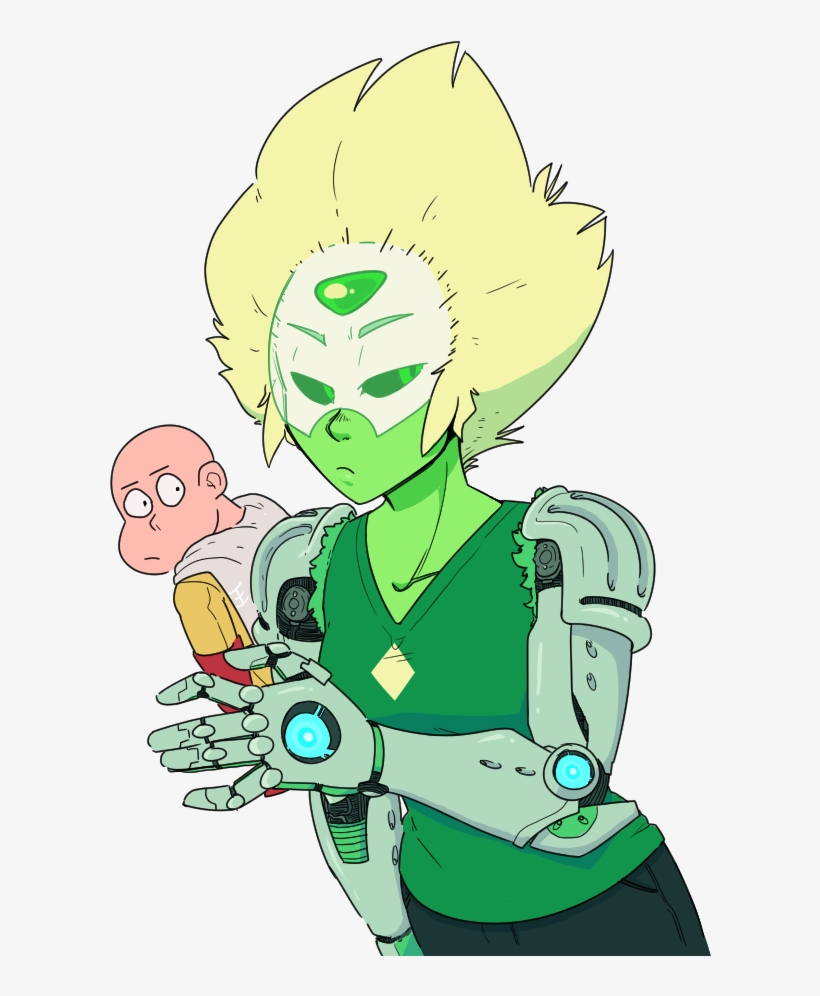 Green Fictional Character Vertebrate Cartoon Mythical - Steven Universe Crossover One Punch Man, transparent png #2265812