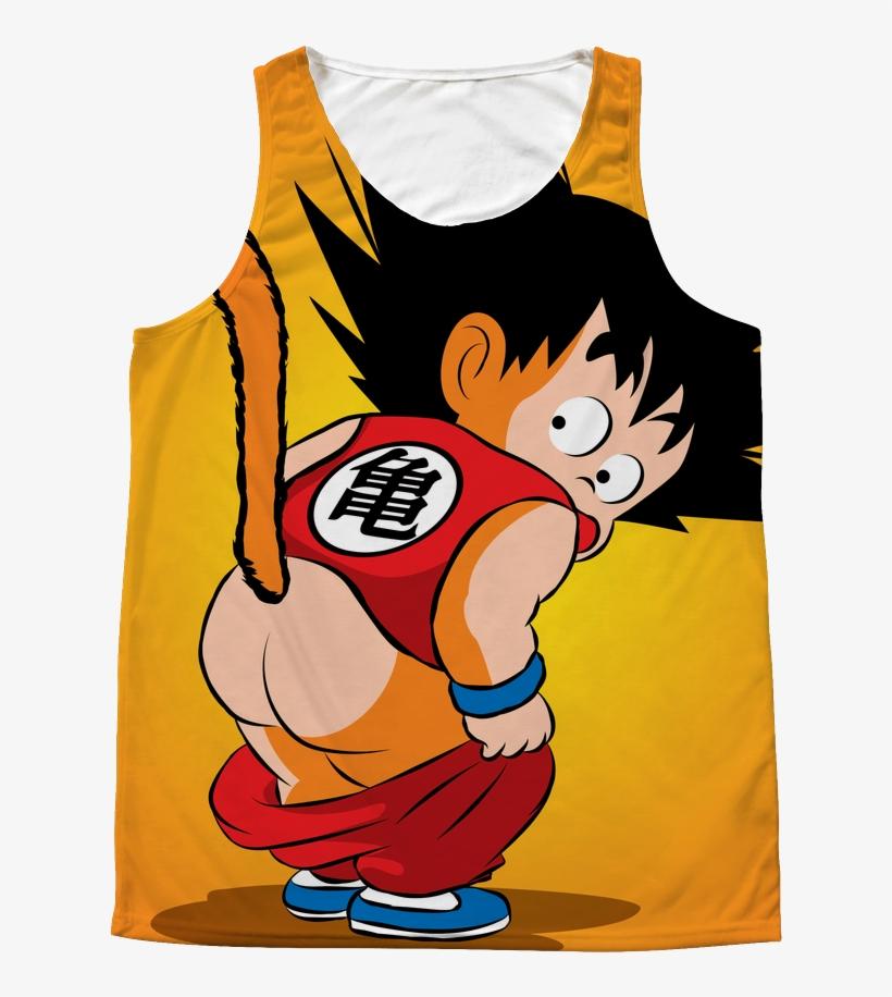 1 Sided 3d Tank Top T Shirt Tank - Goku Kid, transparent png #2267334