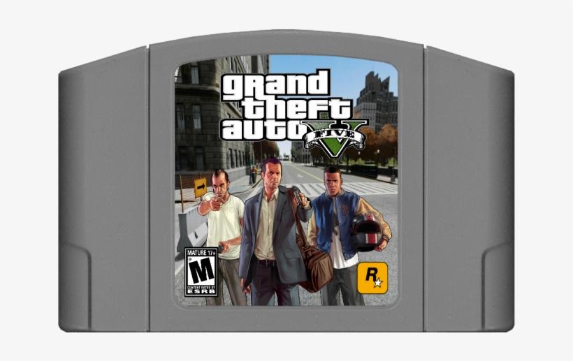 Grand Theft Auto V N64 Box Art Cover - Gta Grand Theft Auto V (5) For Xbox 360, transparent png #2267581