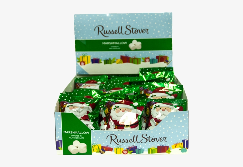 Russell Stover Milk Chocolate Marshmallow Santa Candy - Russell Stover Milk Chocolate - 2.875 Oz Bar, transparent png #2268409