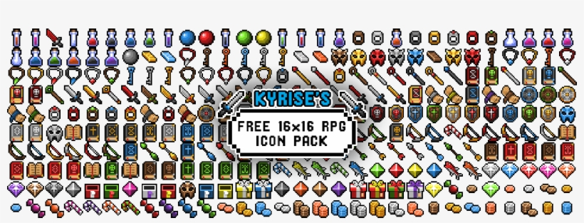 Kyrise's Free Rpg Icon Pack - Rpg Icons 16 X 16, transparent png #2268429