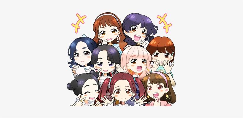 Candy Pop Line Stickers Twice - Twice Candy Pop Anime - Free