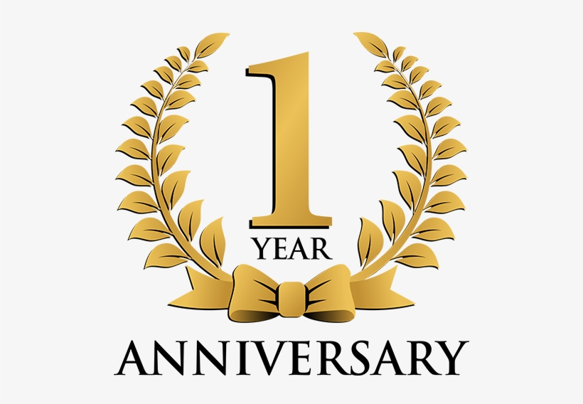 1 year celebration png 1st year anniversary logo free transparent png download pngkey 1 year celebration png 1st year