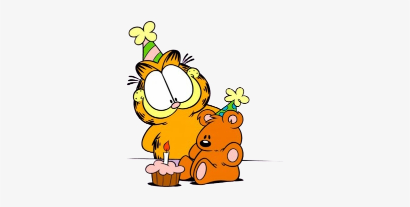 Magda On Twitter - Garfield Birthday Png, transparent png #2271076