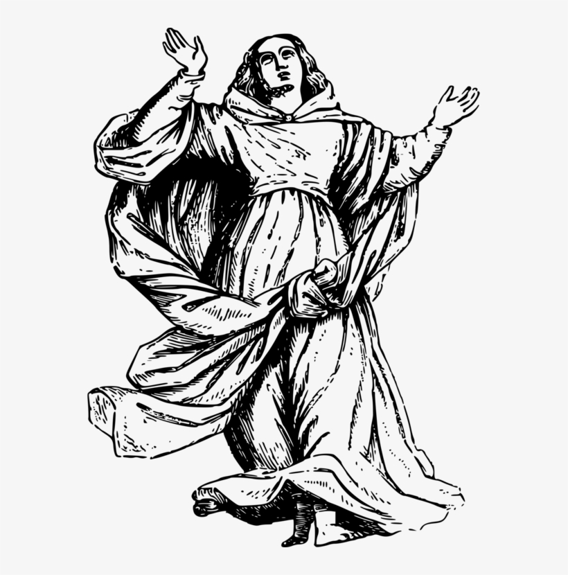 Drawing Veneration Of Mary In The Catholic Church Madonna - Assumption Of The Blessed Virgin Mary Clip Art, transparent png #2271120