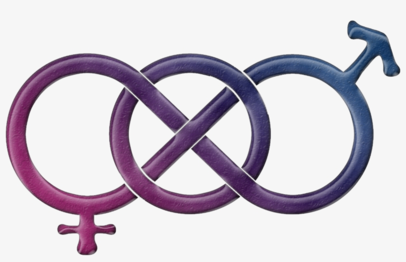 Bisexual Pride Gender Knot In Pride Flag Colors - Bisexual Gender Symbol, transparent png #2277075