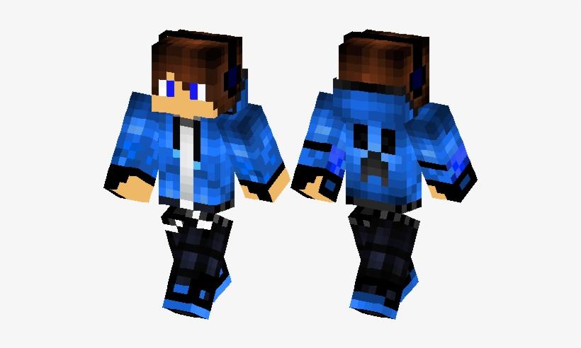 Cool Minecraft Skins Blue Free Transparent Png Download Pngkey