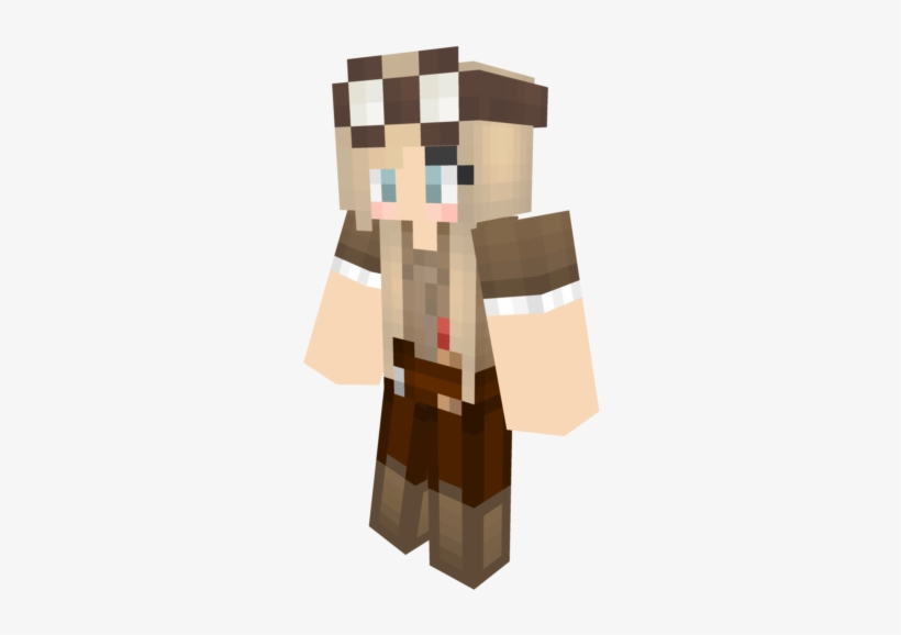 Girl Minecraft Skins Brown Hair Free Transparent Png Download Pngkey