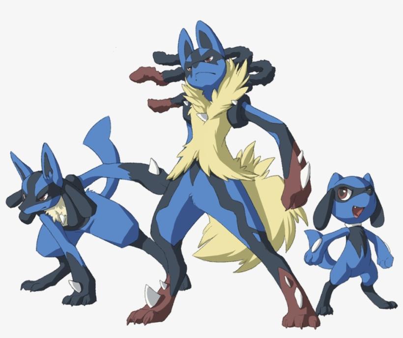 Lucario Mega Lucario Megalucario Riolu Pokemon Mewitti - Riolu Y Lucario Y Mega Lucario, transparent png #2279070