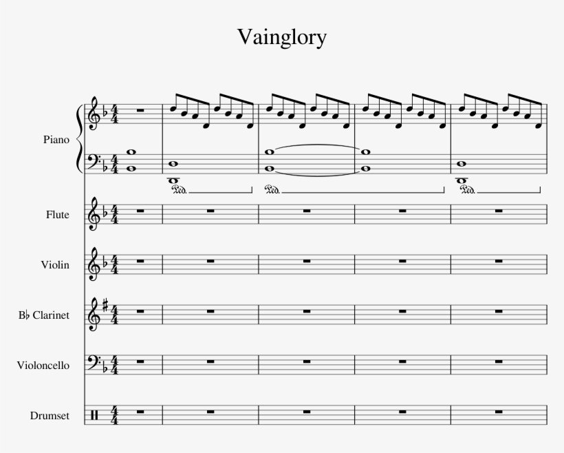 Vainglory Sheet Music 1 Of 12 Pages - Vainglory Theme Song Piano, transparent png #2281326