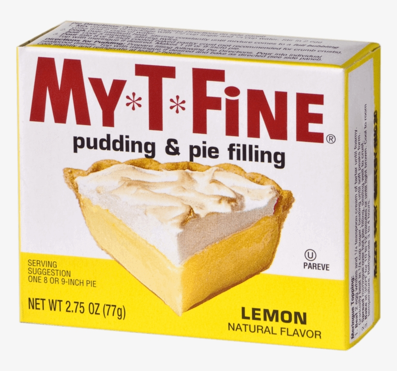 My*t*fine Lemon Cooked Pudding - My-t-fine Pudding & Pie Filling, Lemon - 2.75 Oz, transparent png #2284099