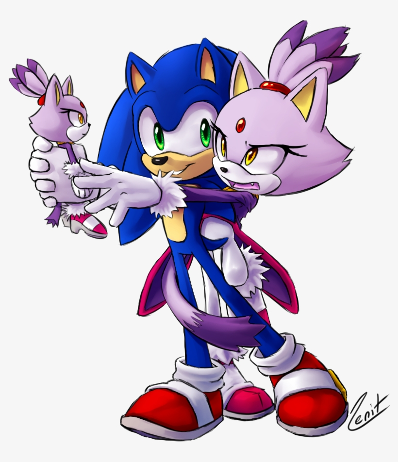 Baby Blaze The Cat And Silver The Hedgehog - Blaze The Cat Sonic The Hedgehog, transparent png #2287279