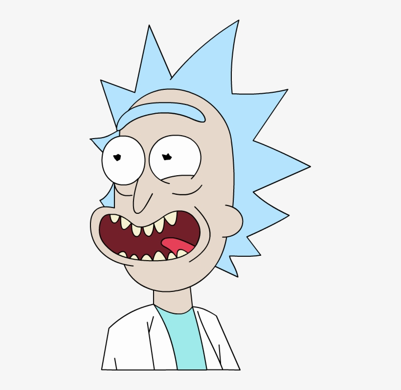 Rick And Morty Rick Face Png Banner Black And White - Rick And Morty Ricks Face, transparent png #2290507