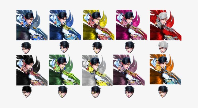 Bayonetta - Super Smash Bros Bayonetta Colors, transparent png #2292030