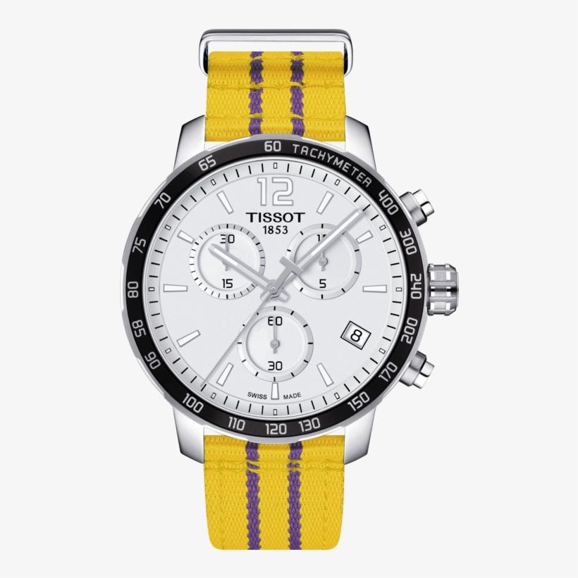 Tissot Quickster Chronograph Nba Los Angeles Lakers - Lakers Tissot, transparent png #2292155