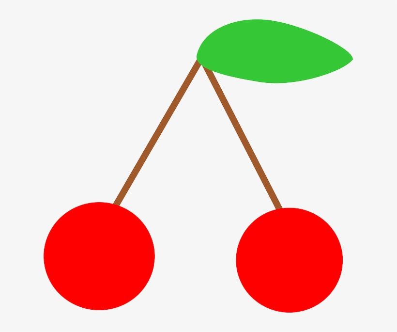 Simple, Food, Fruit, Symbol, Cherries, Cherry - Cherries Symbol, transparent png #230434