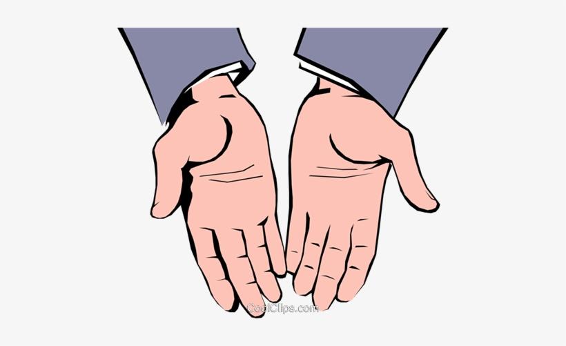 Open Hands Royalty Free Vector Clip Art Illustration