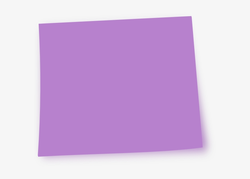 Pink Sticky Note Png Download - Purple Post It Note, transparent png #231877