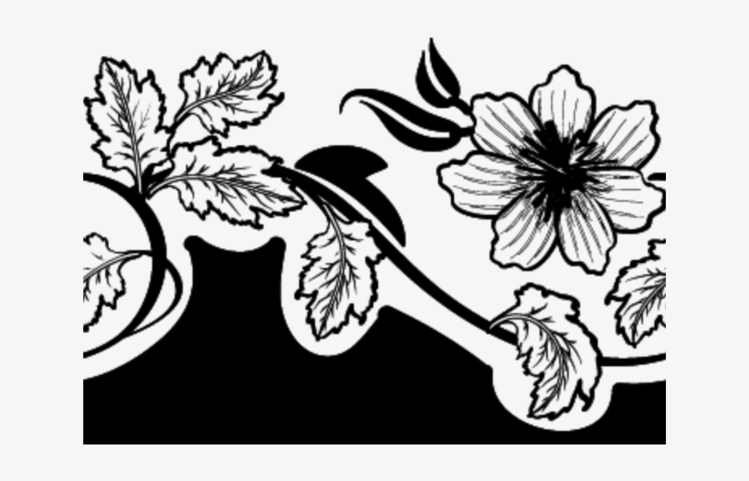 Flower Png Clipart Black And White Flower Vector Marsala Mit