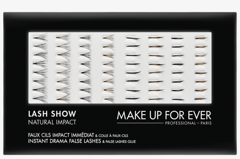 Make Up For Ever 'lash Show' No. N601 False Eyelashes, transparent png #233159