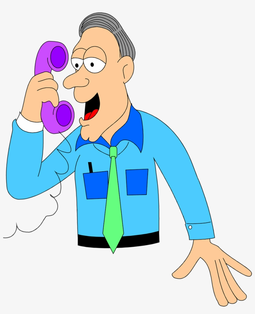Phone talking. Deluxe clipart people on
