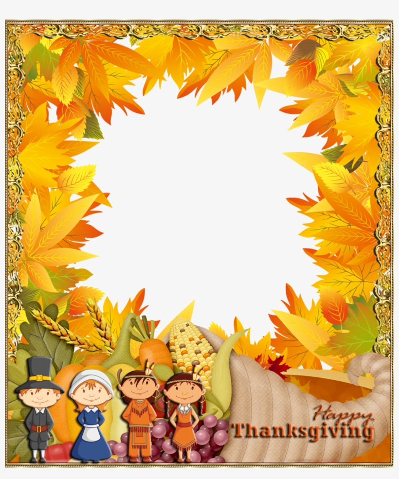 Happy Thanksgiving Png Photo Frame - Happy Thanksgiving Frame Clipart, transparent png #235485
