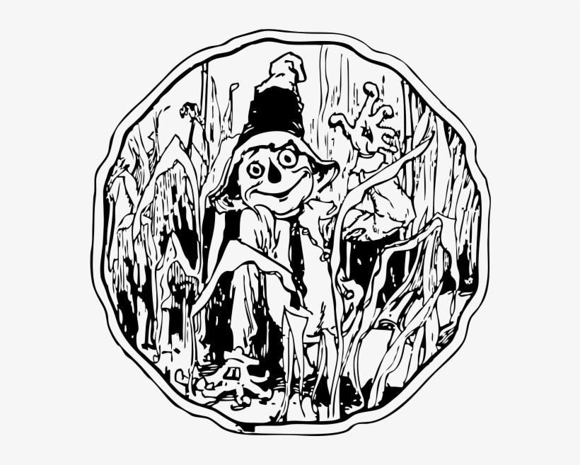 Scare Crow Halloween Autumn - Clip Art Scarecrow Vector, transparent png #235928