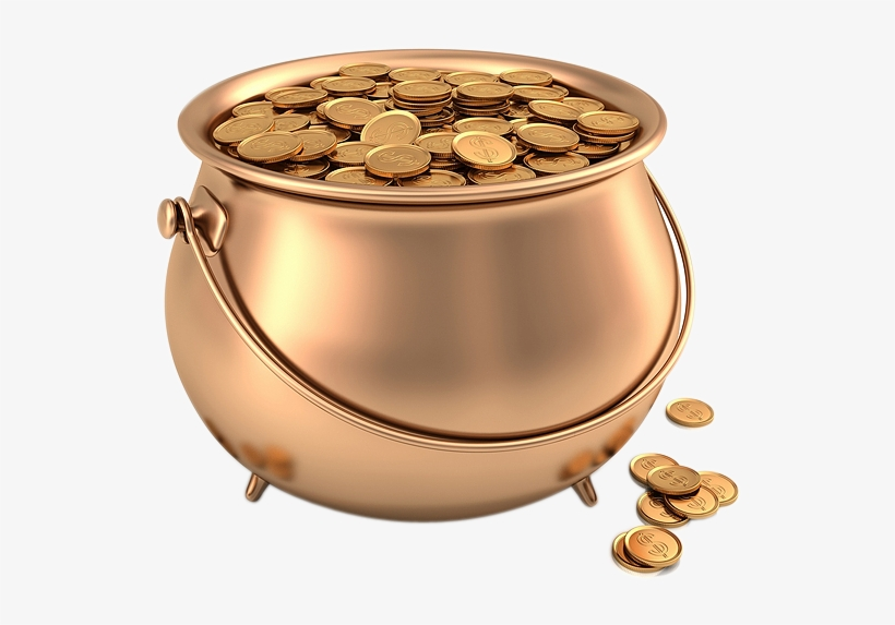 Gold Coins In Pot Png Image - Pot Of Gold, transparent png #236568
