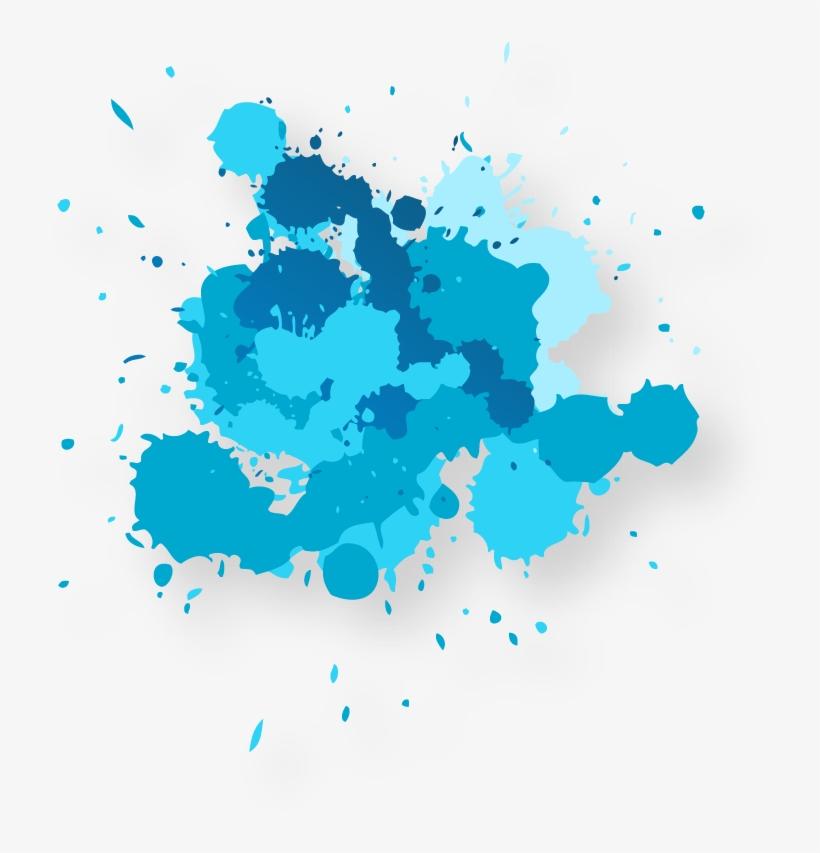 Picture Freeuse Stock Transparent Watercolors Droplet - Blue Paint Splash Png, transparent png #237287