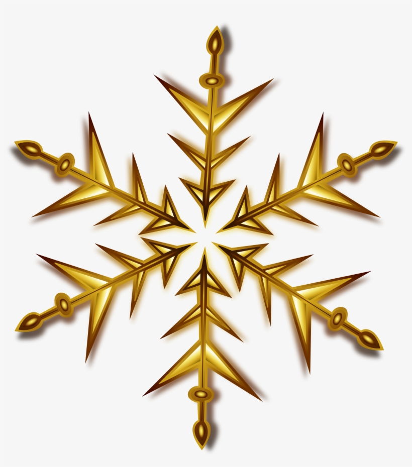 Christmas Gold Star Png Pic - Gold Snowflake Clipart, transparent png #237391