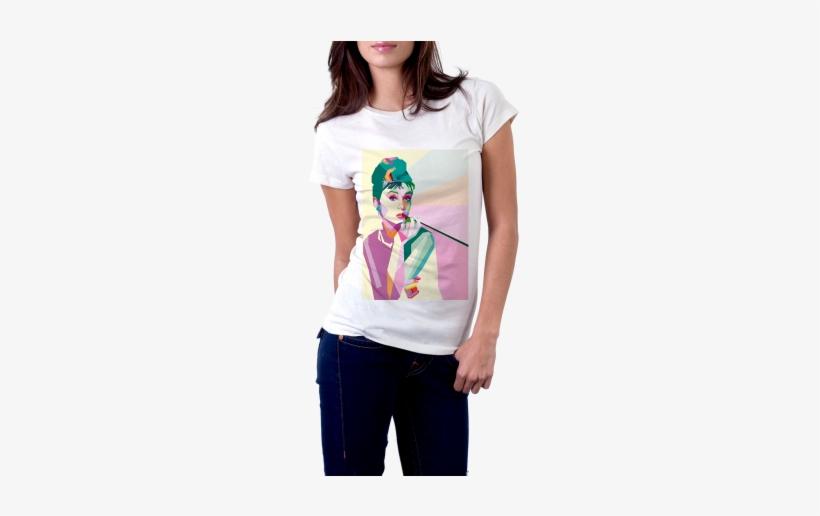 Audrey Hepburn Pop Art T-shirt - Camiseta De A Culpa E Das Estrelas, transparent png #237776