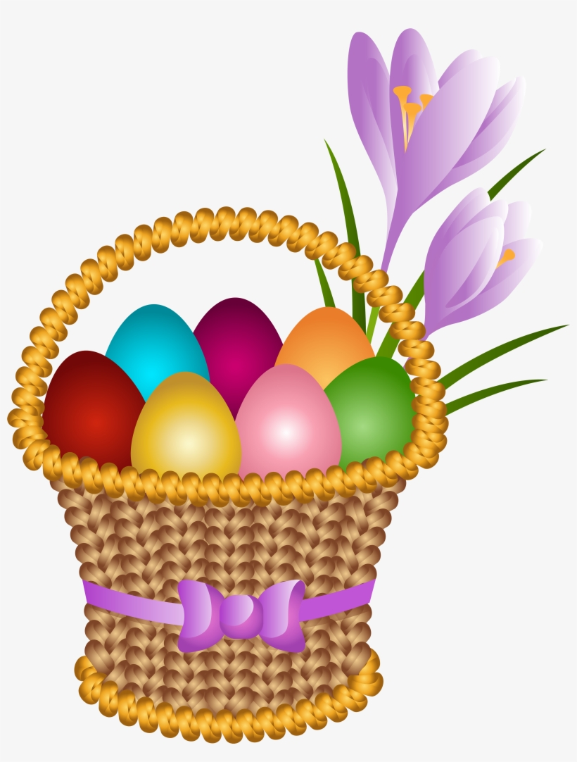 Basket Transparent Easter Egg - Easter Eggs Basket Clipart, transparent png #238138
