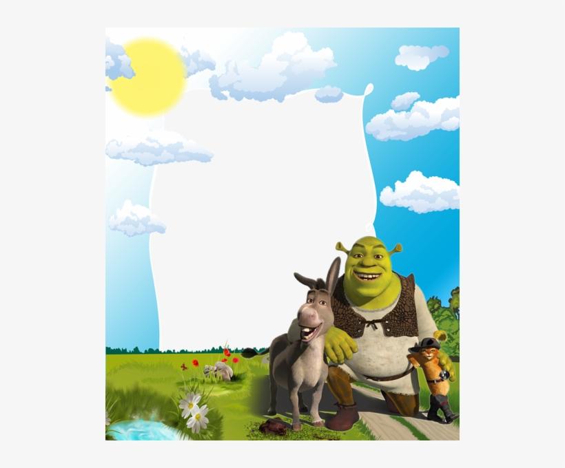 Kids Png Photo Frame With Shrek - Shrek Photo Frame Png, transparent png #238515