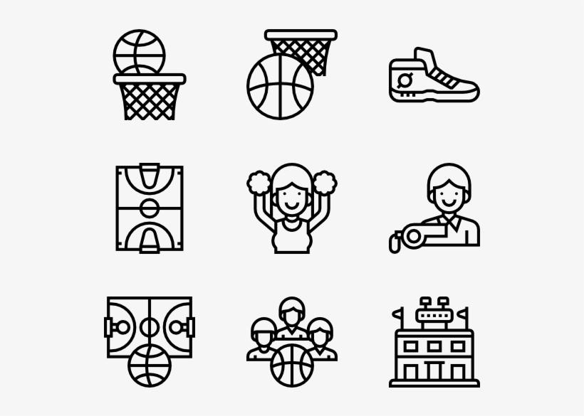 Basketball - Theme Park Icons, transparent png #239255