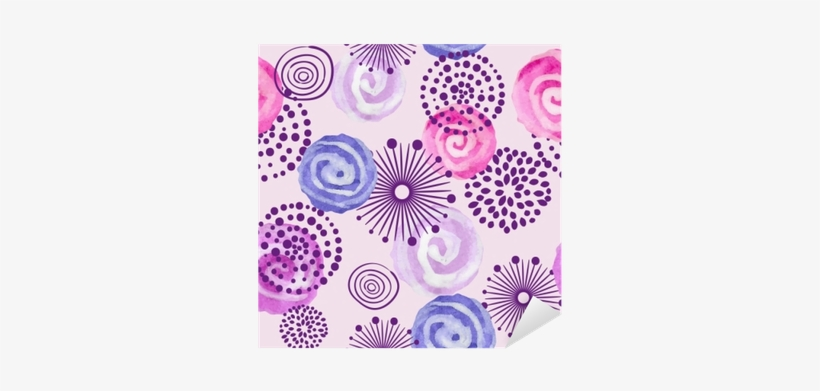 Watercolor Seamless Pattern In Purple, Lilac And Pink - Fondos Para Decorar Color Morado, transparent png #239536