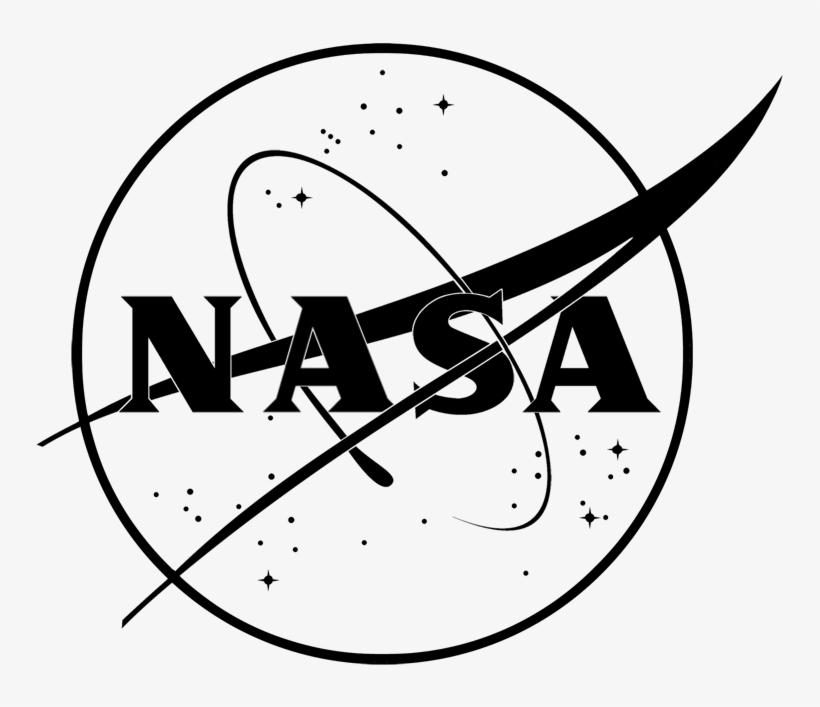 Nasa Insignia Black Line Nasa Logo One Color Free Transparent