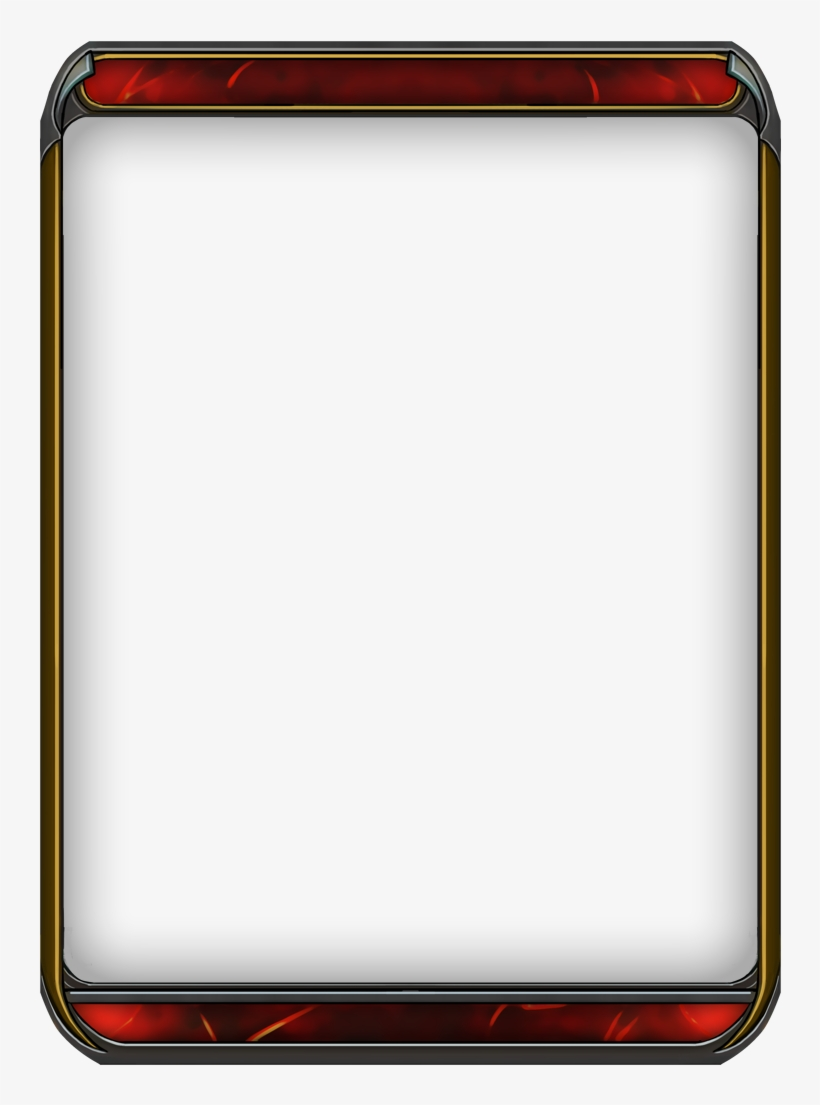 Free Template Blank Trading Card Template Large Size - Trading Card Templates Blank, transparent png #2302165