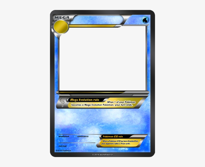 Pokemon Blank Card Template Mega Pokemon Card Template