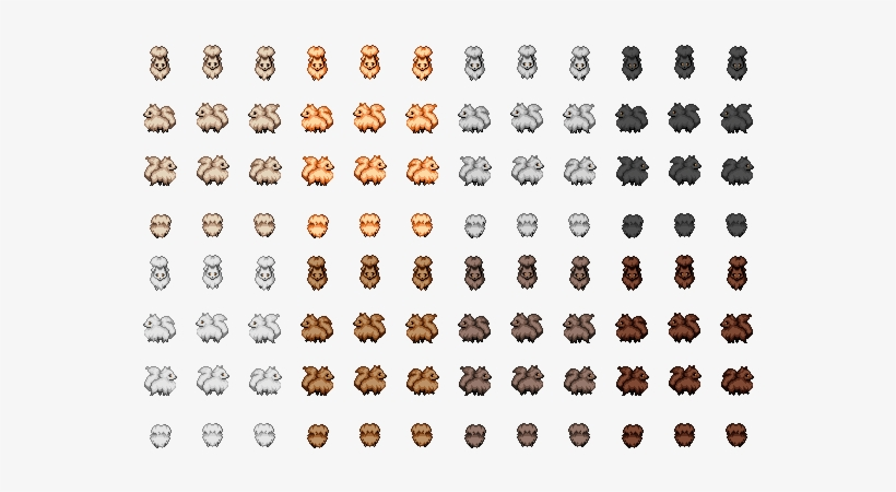 Img] - Cute Animal Sprite Sheet - Free Transparent PNG Download - PNGkey