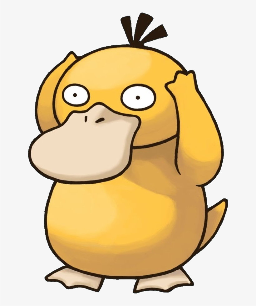 054psyduck Pokemon Mystery Dungeon Red And Blue Rescue - Pokemon Psyduck Png, transparent png #2306161