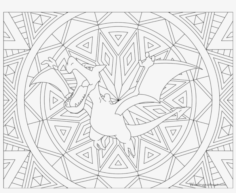 Adult Pokemon Coloring Page Aerodactyl - Pokemon Coloring Pages For Adults, transparent png #2306825