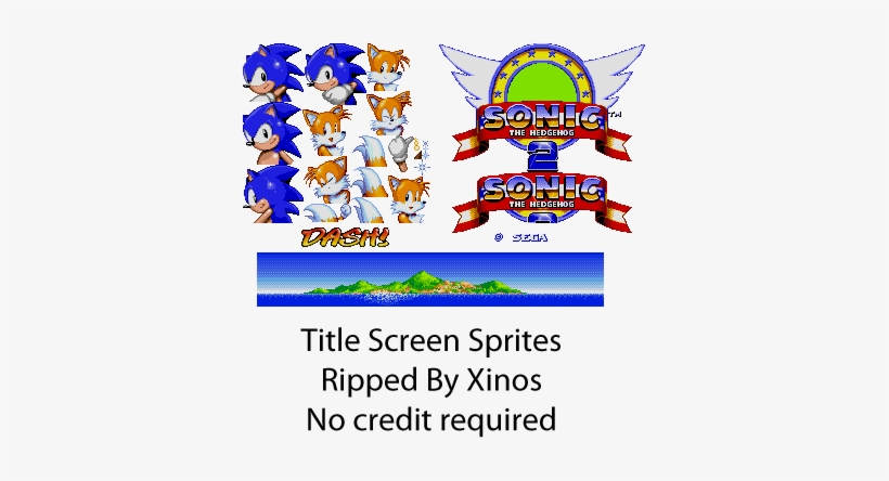 Title Sonic 2 Title Sprites Free Transparent Png Download Pngkey