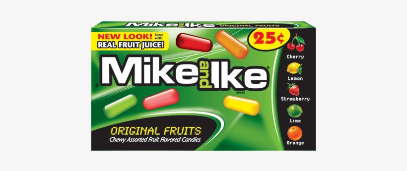 Mike And Ike Original Fruits Chewy Candies - Red Rageous Mike And Ike, transparent png #2311901