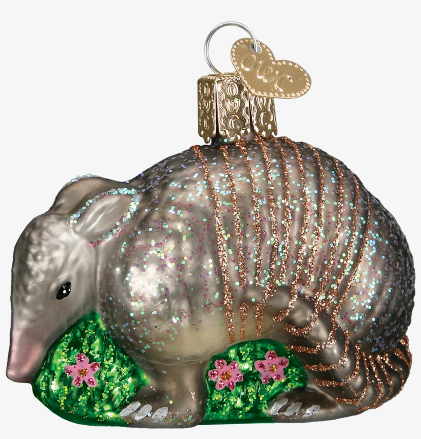 Picture Of Armadillo - Old World Christmas Armadillo Glass Ornament, transparent png #2313003