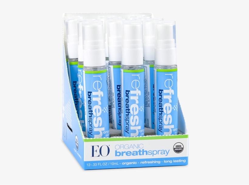 Eo Certified Organic Breath Spray Refresh 12 Pack - Eo Products Breath Spray, Organic Refresh, 0.33 Ounce, transparent png #2316498