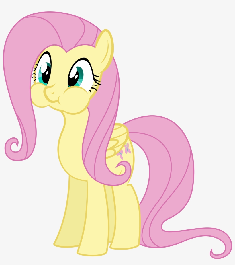 Fluttershy My Little Pony Breath Hold Free Transparent Png Download Pngkey