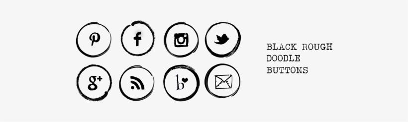 Free Social Media Buttons - Social Media Icons Doodle, transparent png #2316641