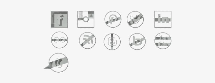 Social Media Buttons 6cm - Social Media, transparent png #2316839